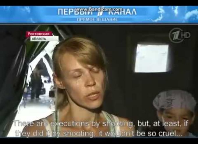 Ukrainian Nazis crucify a baby and force mother to watch then murder her