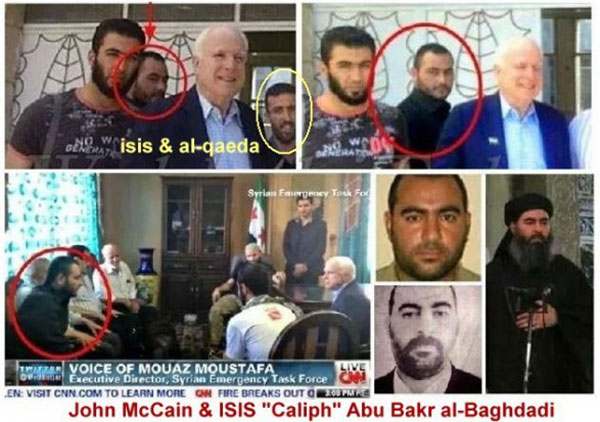 MC Cain with leaders of ISIS (ISIL)