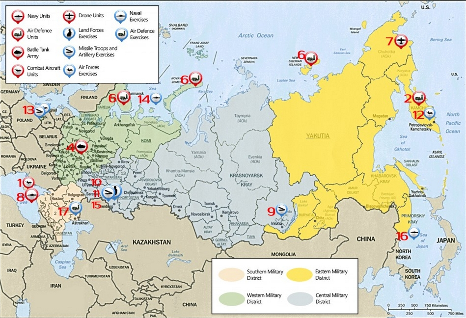 Russian Military Map July 22  August 2 2015  The Vineyard of