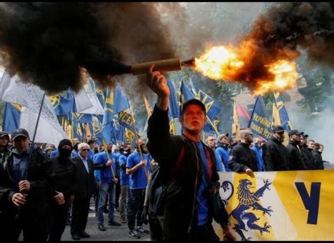 Ukrainian nationalists protest Donbass elections