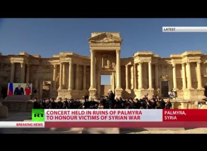 'Praying for Palmyra': Russian orchestra performs concert honoring victims of Syria war
