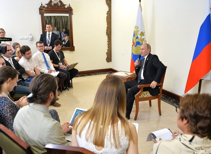 President of Russia answered questions from Russian journalists following the BRICS Summit in Goa