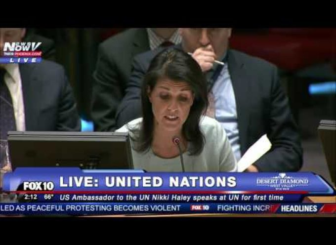 There we go!  The US blames Russia for the Ukronazi attack on the Donbass