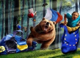 BHL, the Ukraine and the Russian bear (priceless!)