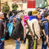 First videos of militants being evacuated from Homs Syria