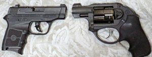 Left: S&W Bodyguard; Right Ruger LCR