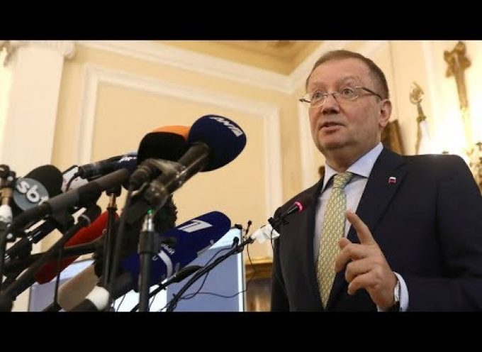 Russian Ambassador to the UK Alexander Yakovenko holds news conference