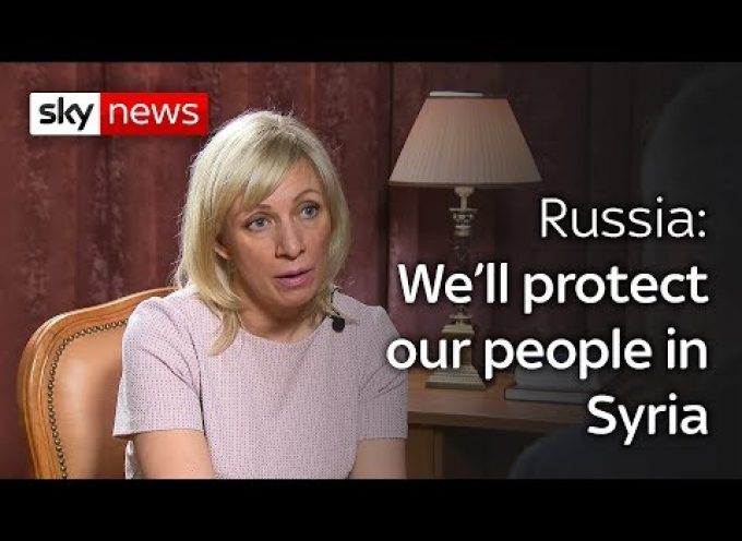 Maria Zakharova interviewed (in English) by Sky News