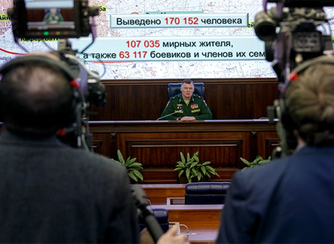 Briefing by official representative of Russian Defence Ministry Major General Igor Konashenkov Full Transcript