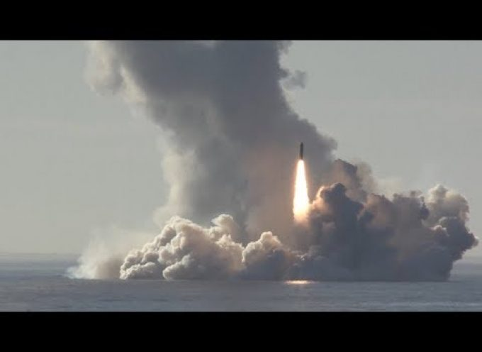 "Interesting video of  a quadruple ""volley"" launch of SLBMs from the latest Russian SSBN"