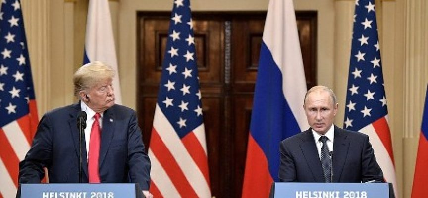 News conference following talks between the presidents of Russia and the United States