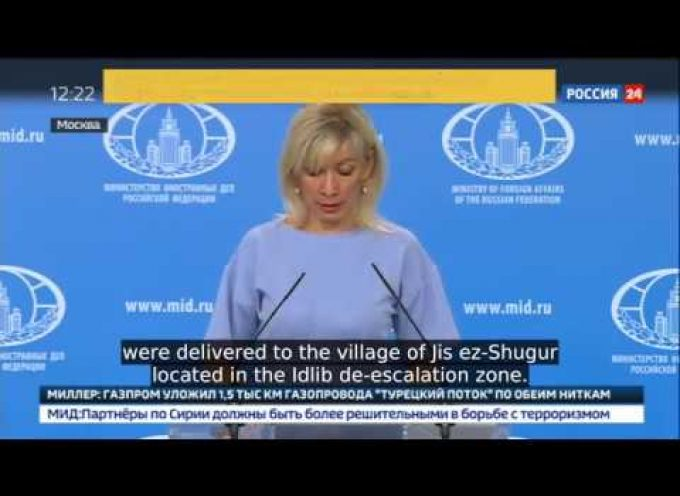 Russian MFA: Rebel False Flag Imminent, Chemicals Already in White Helmet Hands
