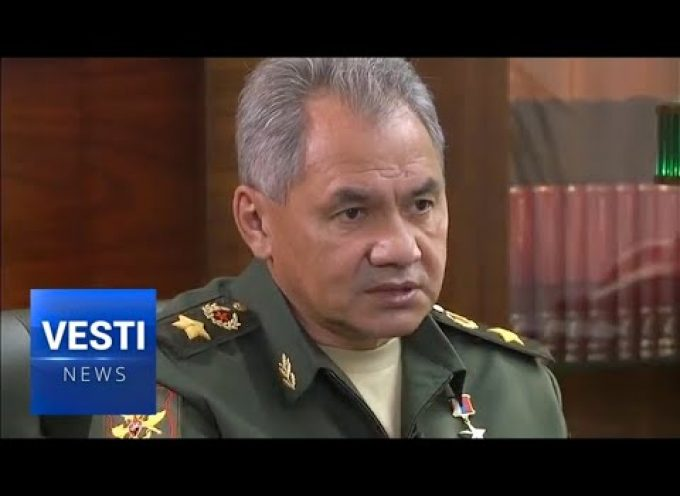 Defense Minister Shoigu interviewed about the recent military maneuvers