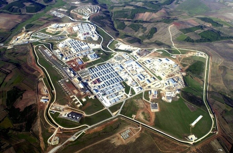 U.S. Camp Bondsteel in the U.S. sponsored protectorate of Kosovo located in southwestern Serbia. The intervention in Kosovo had nothing to do with humanitarian concerns as usual, but in establishing a permanent military foothold in the Balkans.
