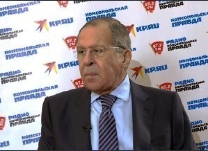 Lavrov's interview with Radio Komsomolskaya Pravda