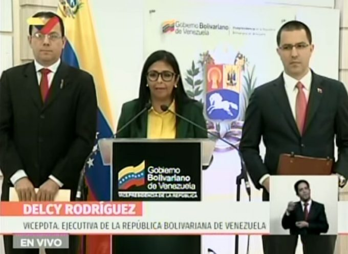 Venezuelan Vicepresident Delcy Rodriguez – Press conference Feb 21 2019