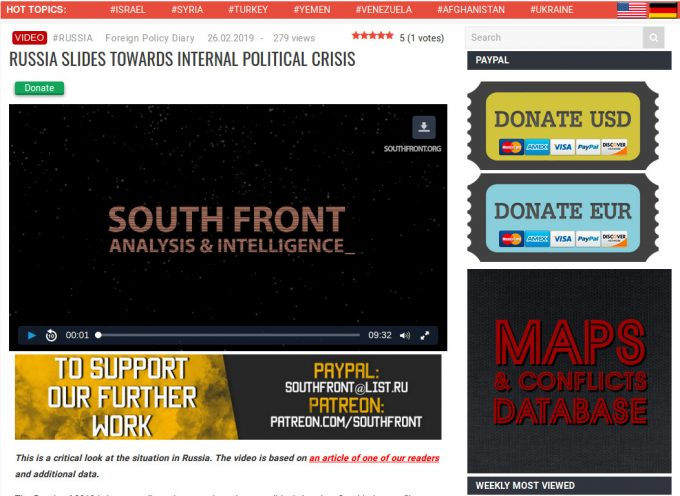 Russia Slides Towards Internal Political Crisis (MUST SEE SouthFront video report!)