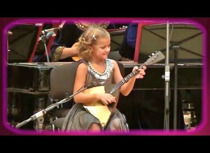 "Anastasia Tyurina (7) performs ""Valenki"" on her balalaika"