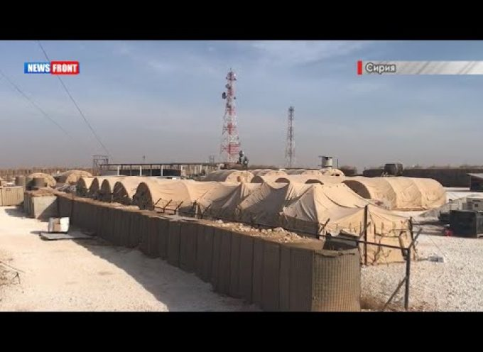 Footage of the hastily abandoned US base in Syria