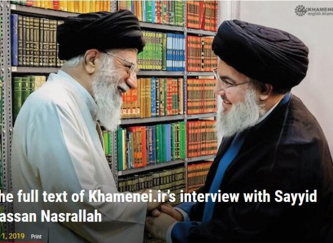 The full text of Khamenei.ir's interview with Sayyid Hassan Nasrallah