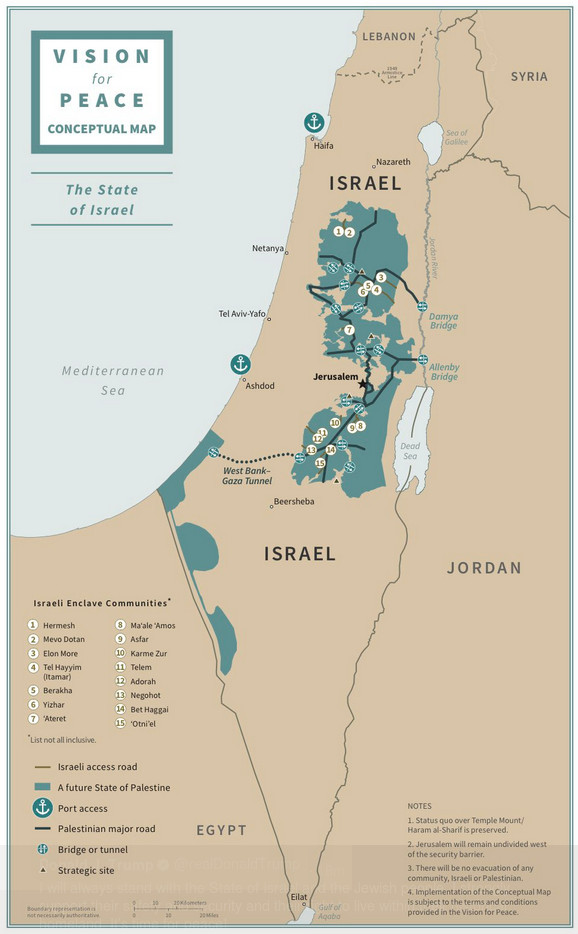 "Zionist Apartheid combined with a typically illegal land grab in violation of hundreds of UNSC resolutions. And they call that a ""Vision for Peace""."