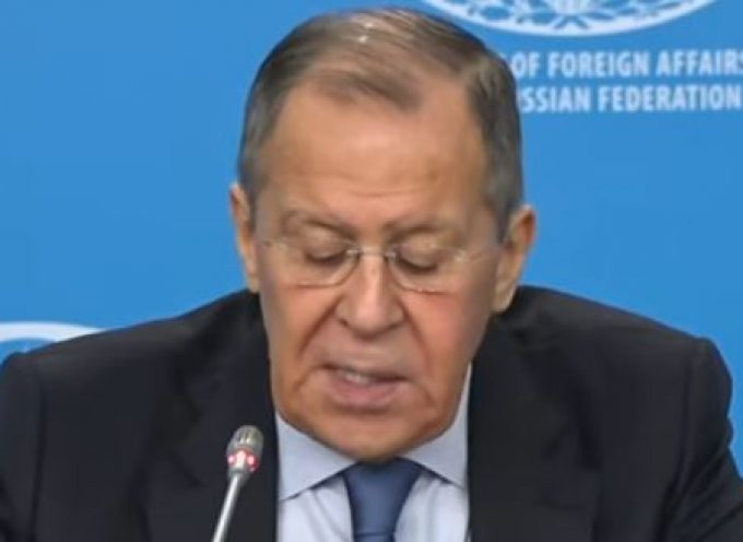 Russian FM Sergey Lavrov (acting) conducts the annual news conference evaluating Russian foreign policy.