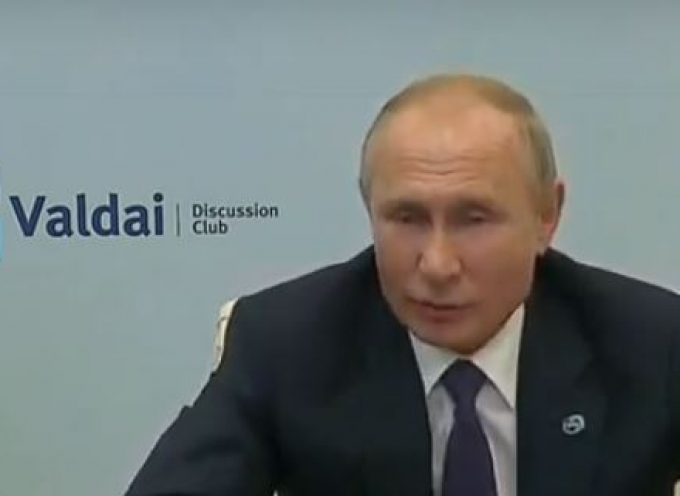 Russian President Putin Delivers Speech at Valdai Discussion Club -2020 – Update