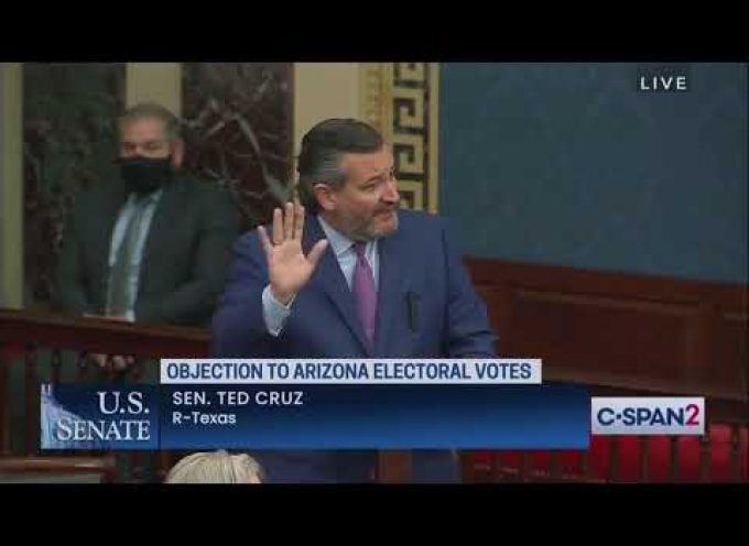 Senator Cruz objects to the electoral college submission of Arizona