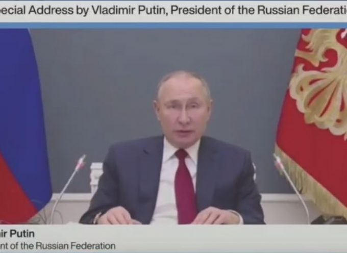 Russian President Putin Delivers Speech at Virtual World Economic Forum