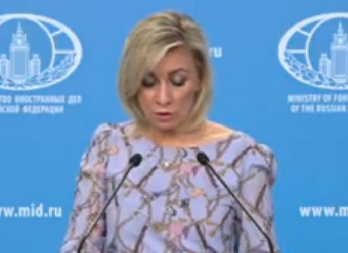 Maria Zakharova : weekly briefing with a US history