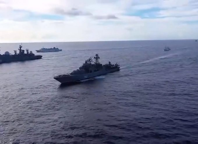 Russian Navy Does 1st Exercises in the Pacific Ocean Since Cold War (Ruslan Ostashko)