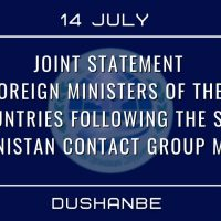 Joint statement by foreign ministers of the SCO countries : SCO-Afghanistan Contact Group